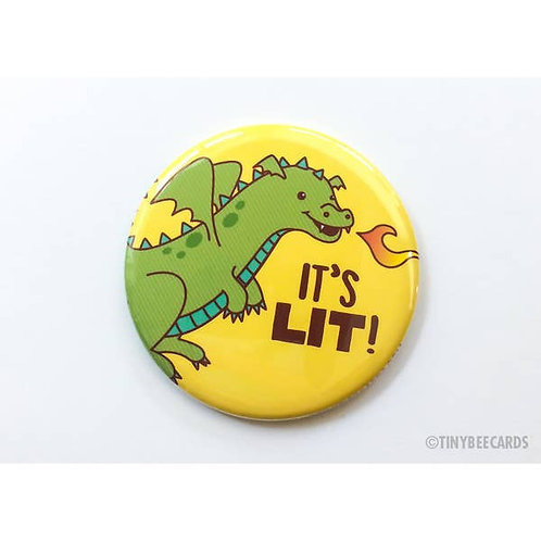 Tiny Bee - Dragon Its Lit Button