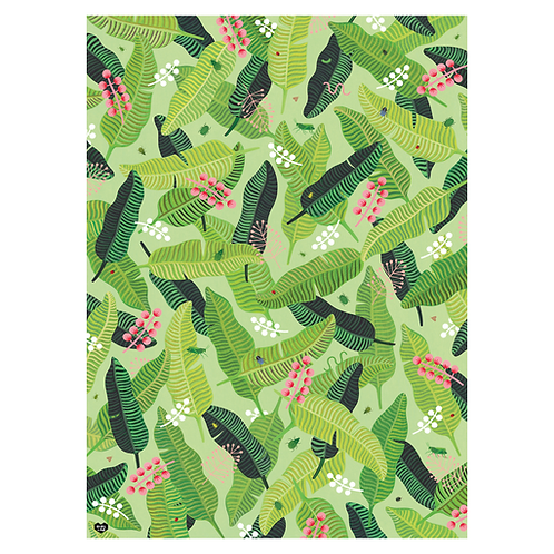 Girl W Knife - Tropical Swoon Gift Wrap 5 Sheets