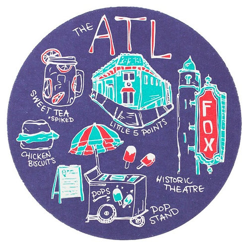 Reyn Paper Co. - ATL Reusable Coasters