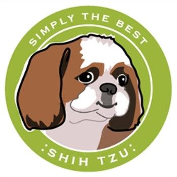 Paper Russells - Shih Tzu Car Magnet