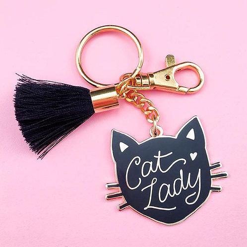 Little Arrow - Cat Lady Keychain