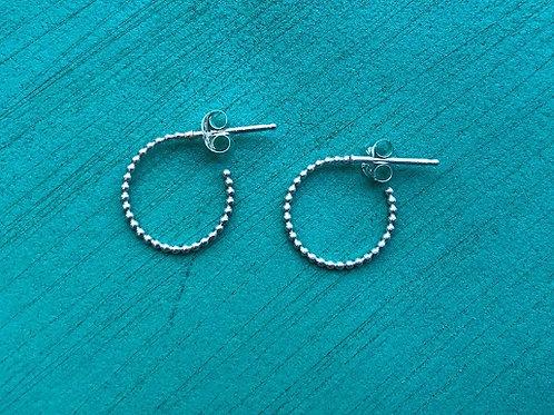 Jillery Designs - Beaded Loop Earrings Sterling Silver