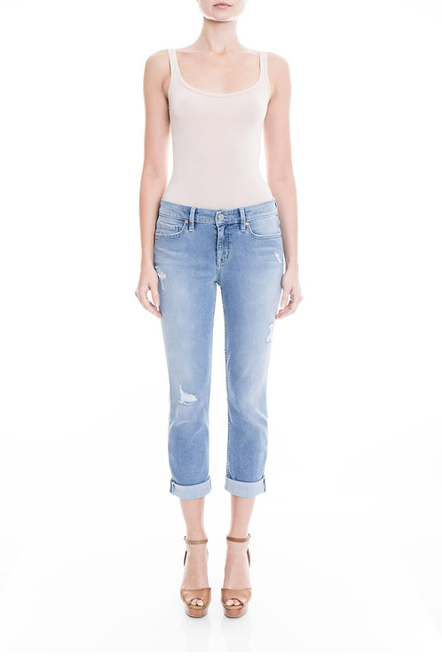 Level 99 - Lily Seabrook Crop Light Wash Jeans