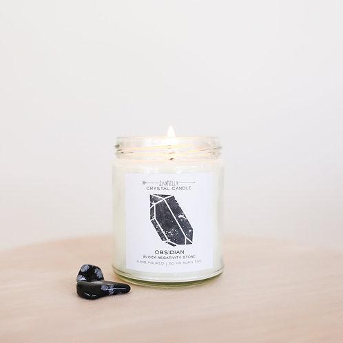 Jax Kelly - Obsidian Crystal Candle (Block Negativity)