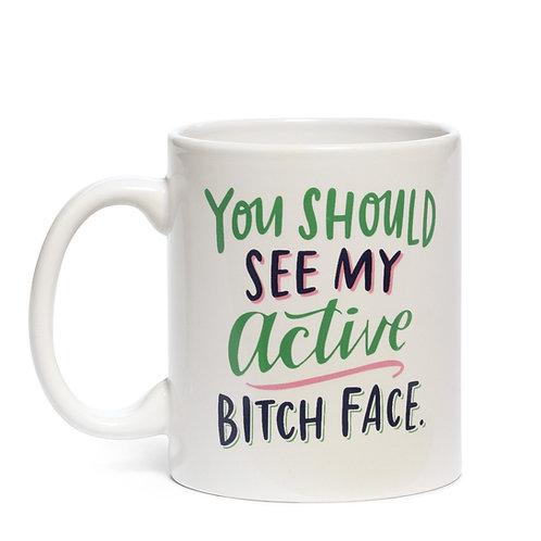 Emily McDowell - Active Bitch Face Mug