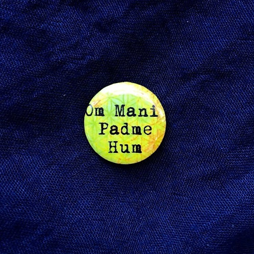 PC Hester - Om Mani Padme Hum Button