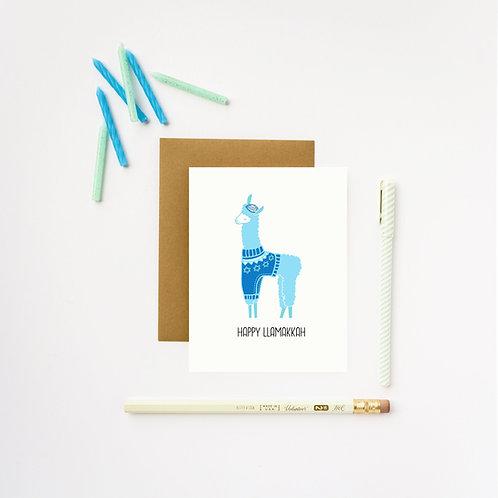 ILootPaperie - Happy Llamakkah Card