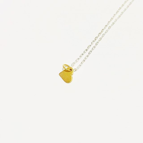 Jillery Designs - Dainty Heart Necklace Gold Filled