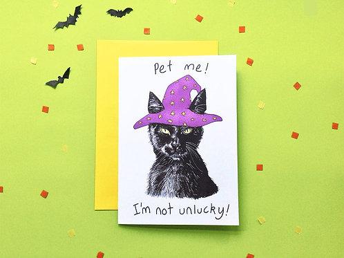 Shop Aberleigh - Spooky Black Cat Card