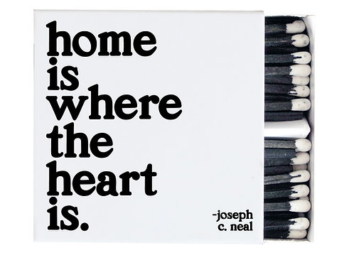Quotable - Home is Where The Heart Is Match Box