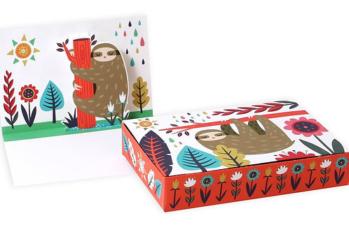 Up With Paper Luxe - Sloth Pop-Up Cards (Boxed Set of 8)