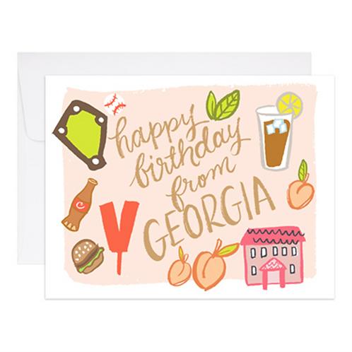 9th Letterpress - Happy Birthday From Georgia