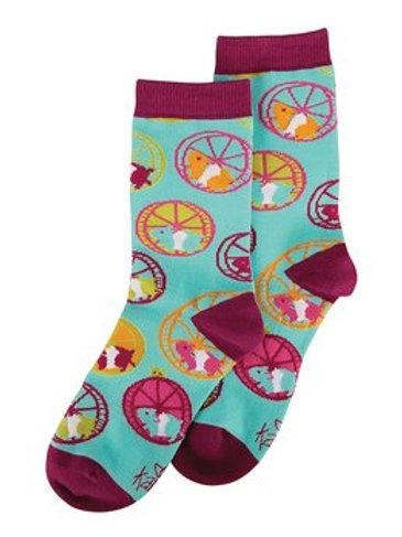 Karma - Hamster Wheel Print Socks