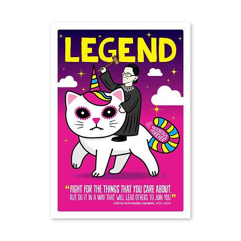 ReSISTA Kat - RBG Unicorn Kitty Card