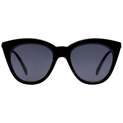 Le Specs - Halfmoon Magic Black Smoke Mono Sunglasses