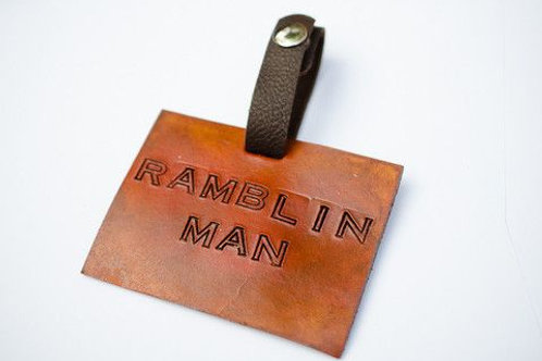 Margaret Vera - Ramblin Man Leather Luggage Tag