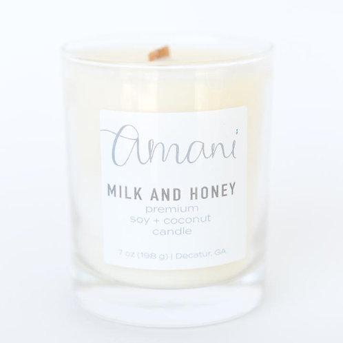 Amani - Milk & Honey Candle