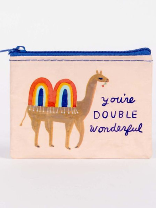 Blue Q - Double Wonderful Coin Purse