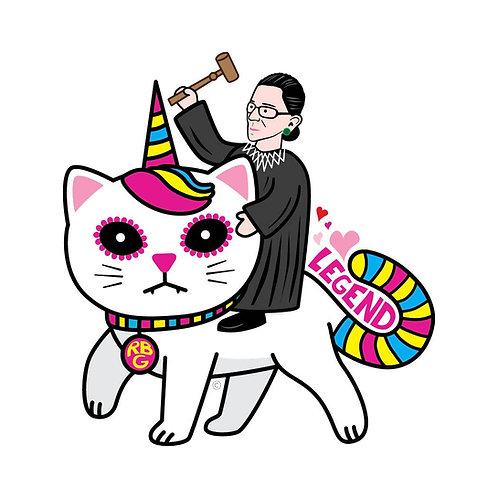 ReSISTA Kat - RBG Unicorn Kitty Die-Cut Sticker