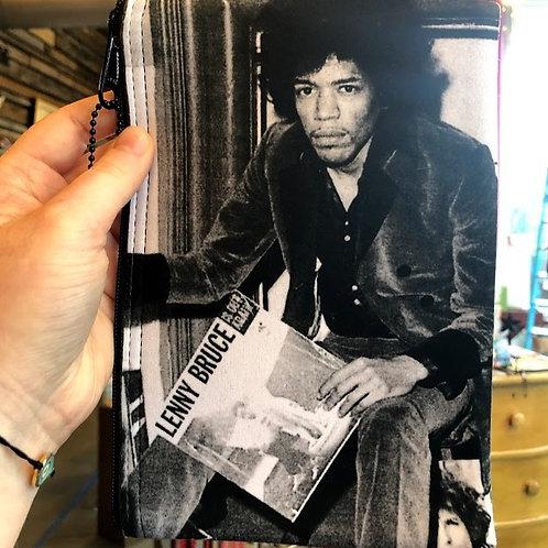 "Jim Spinx - Jimi Hendrix Zipper Pouch Large 8x6"""