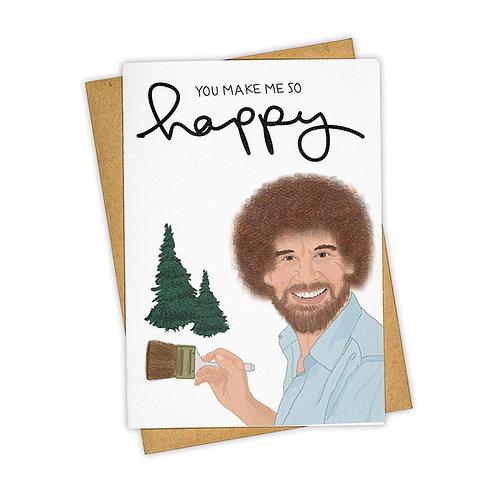 Tay Ham - Happy Little Trees Bob Ross Card