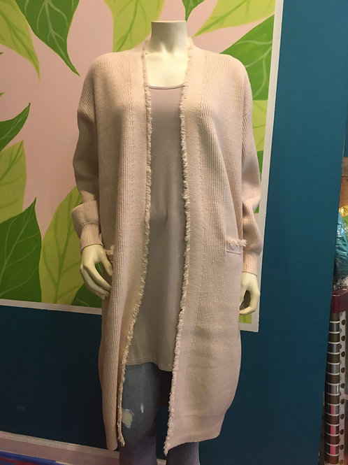 Teeberry & Weave - Cream Duster Cardigan With Pockets