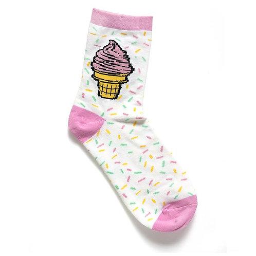 Smarty Pants - Ice Cream Socks Ladies Crew