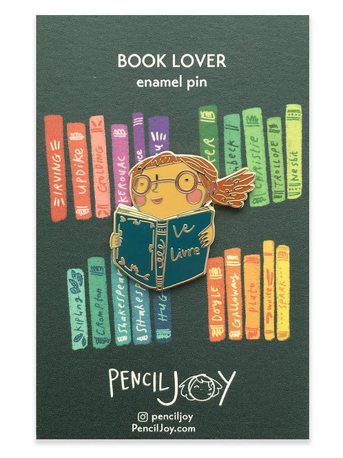 Pencil Joy - Book Lover Enamel Pin