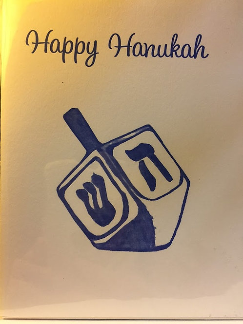 Coffee & Cream Press - Happy Hanukkah Dreidel Card