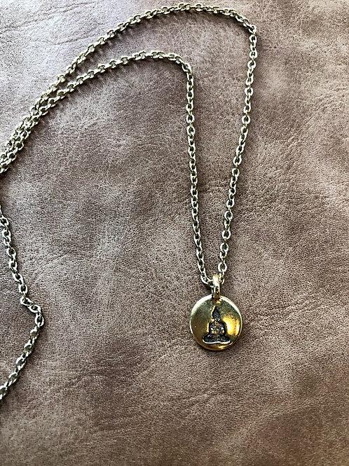 Rachel Eva - Gold Buddha Circle Necklace