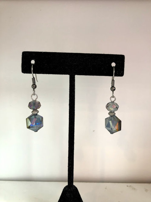 Rachel Eva Earrings - Crystal with Gunmetal