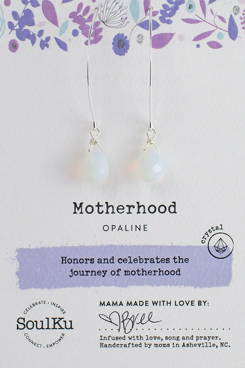 Soul Ku - Opaline for Motherhood Earrings