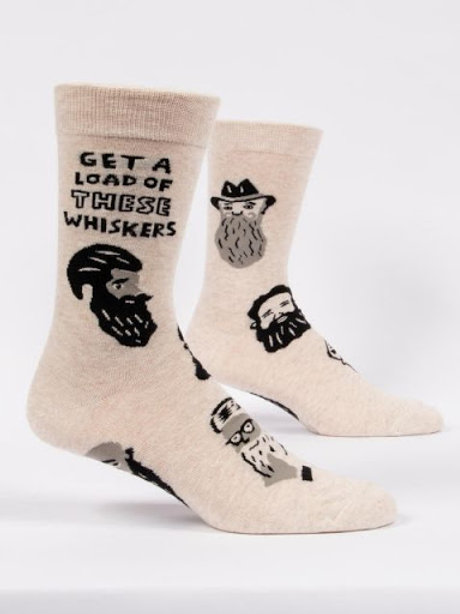 Blue Q - Get A Load Of These Whiskers Crew Socks