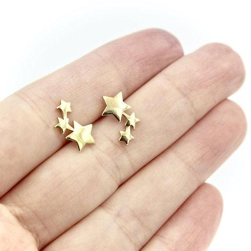 Carruthers Jewelry - Comet Earrings Brass