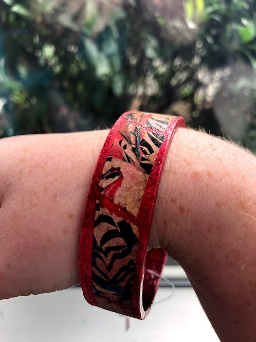 MBM - Red Collage Bracelet