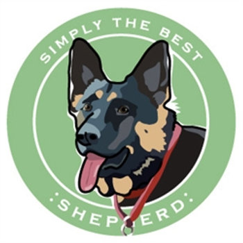 Paper Russells - German Shepherd Car Magnet