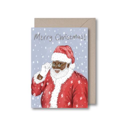 Kitsch Noir - Black Santa Card