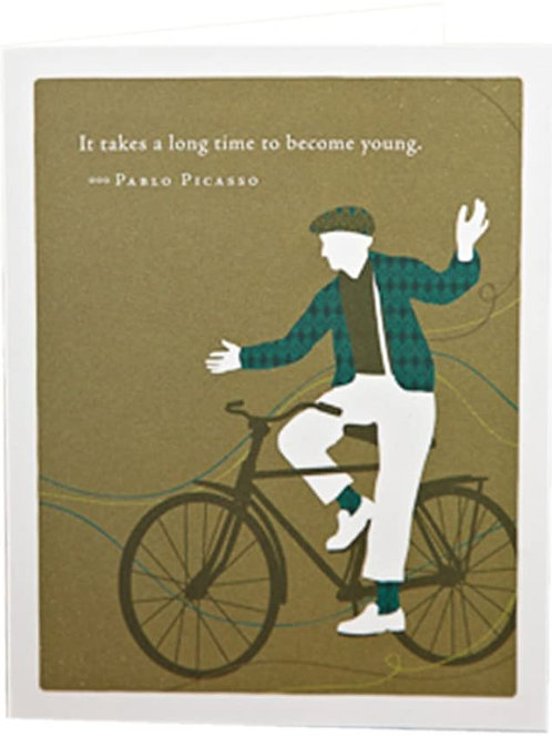 "Positively Green - Pablo Picasso ""It Takes A Long Time To Become Young"""