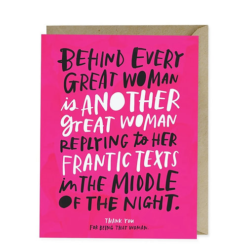 Em & Friends - Every Great Woman Card