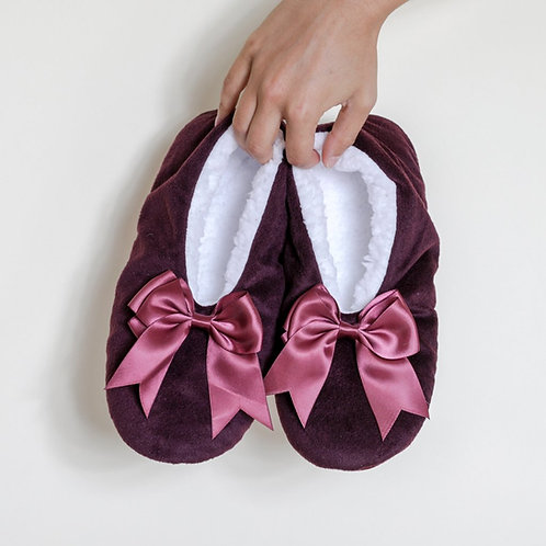 Faceplant Dreams - Too Tired To Adult Maroon Slippers in Size XL