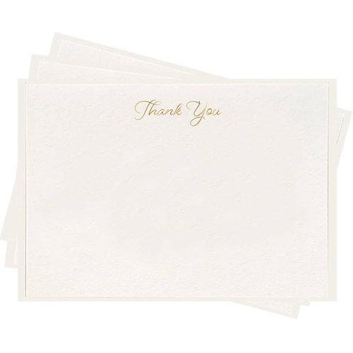 Dahlia Press - Fancy Flat Thank You Boxed Card Set