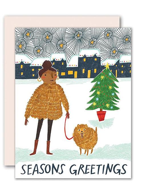 Pencil Joy - Winter Fur Coats Card