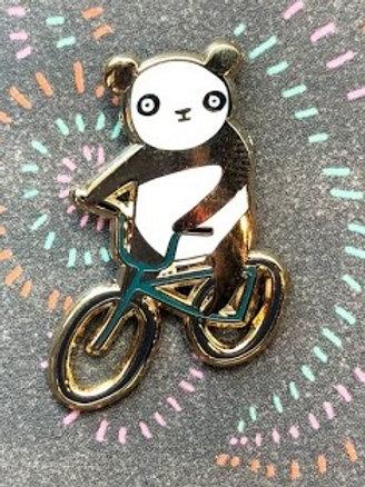 Pencil Joy - Panda on Bike Pin