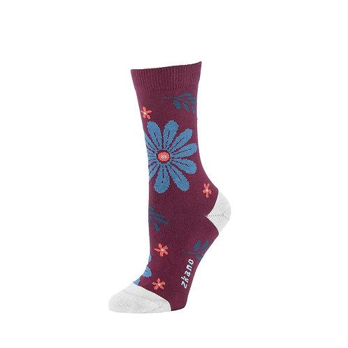 Zkano Socks - Mulberry Uma Women's Crew Socks