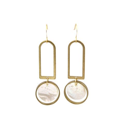 Sunday Girl - Oceane Geometric Shell Earrings