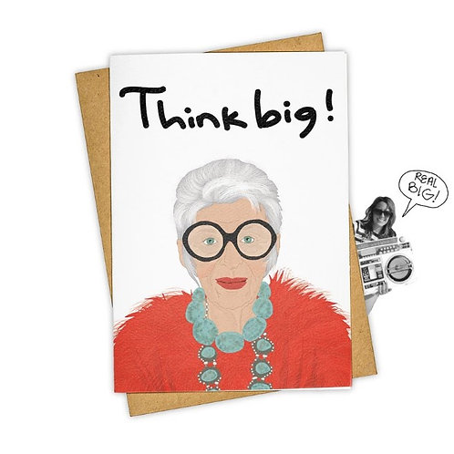 Tay Ham Card - Think Big Iris Apfel