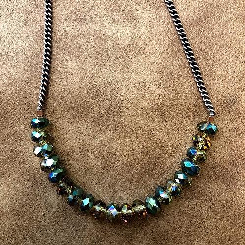 Rachel Eva - Olive Green Bead Necklace