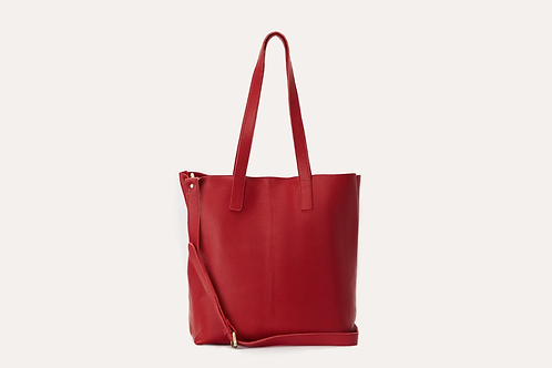 Kiko Leather - Red Journalist Tote