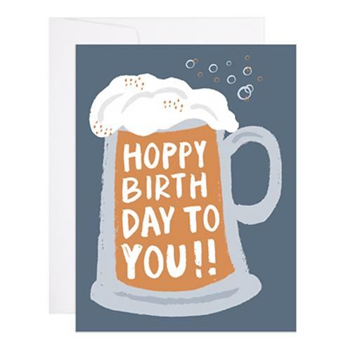 9th Letterpress - Hoppy Birthday