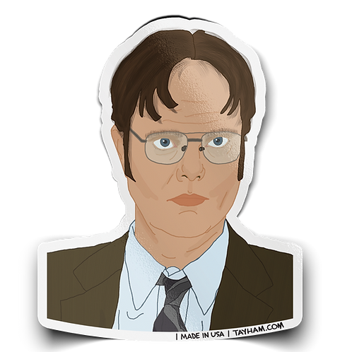 Tay Ham - Dwight Schrute Sticker